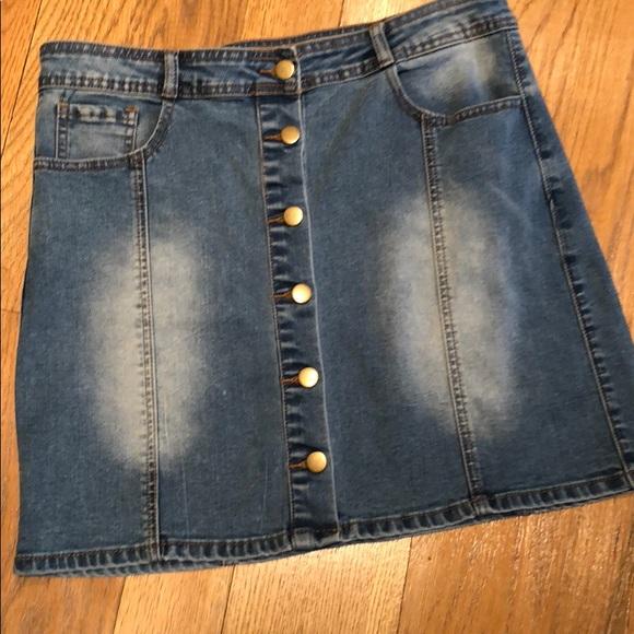 Chiqle Dresses & Skirts - ⭐️🆕[Chigle] A-line Mini Denim Skirt